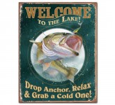 Pub Sign Blech Welcome to the Lake