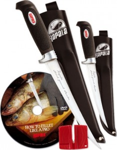 Rapala Filetiermesser Combo, (10cm+15cm+DVD)