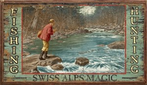 Pub Sign Swiss Alps Magic