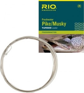 Rio Pike/Musky Leader 7.5ft, 30lb, Nylon/Stahl